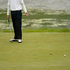 Record-Eagle/Jan-Michael Stump<br /> Suttons Bay's Charlie Olson reacts to a missed putt.
