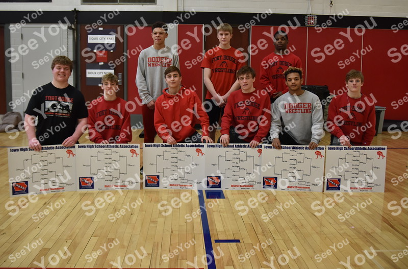 -Messenger photo by Britt Kudla<br /> Fort Dodge State Qualifer are, left to right, Front Row: Logan Finowski, Lane Cowell, Drake Ayala, Brooks Cowell, Drevon Ross, Carson Taylor<br /> Back Row: Dreyzon Phillips, Kody Cook, Savian Wheat