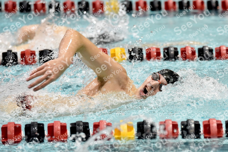 -Messenger photo by Britt Kudla<br /> Cole Pearson of Fort Dodge compete against Ankeny during boys 200 yard Freestyle on Thursday