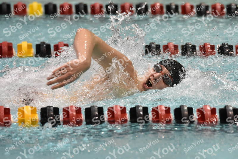 -Messenger photo by Britt Kudla<br /> Cole Pearson of Fort Dodge compete during 100 yard freestyle against West Des Moines Valley on Thursday