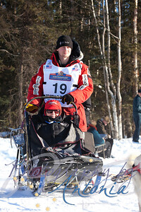 2012 Iditarod Champion, Dallas Seavey's.Tudor Crossing - Anchorage, Alaska - March 2, 2013