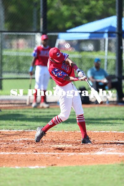 Cesar D Oleo ball on hand by bat