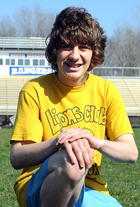 Don Henderson, a runner for the North Ridgeville track team Mar. 30.    Steve Manheim