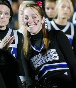 030 Mantanzas High School Cheerleader at Homecoming Football Game
