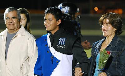 031 Homecoming Senior at Mantanza High School Football