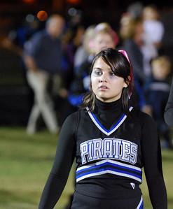 029 Mantanzas High School Cheerleader at Homecoming Football Game