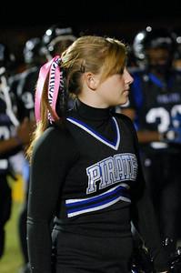 036 Mantanzas High School Cheerleader at Homecoming Football Game