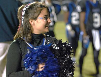 034 Mantanzas High School Cheerleader at Homecoming Football Game
