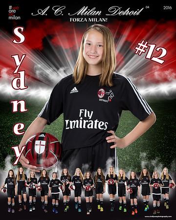 Sydney AC Milan Door Signs