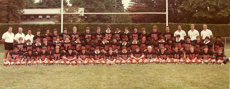The 1984 State Champions - Dover Tigers<br /> Hamilton Field, Dover, New Jersey