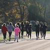Girls on the Run in Dracut start a practice 5K at Dracut High, to get ready for an upcoming regional 5K against other Girls on the Run groups. (SUN/Julia Malakie)