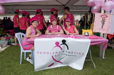 Paddlers in the pink from Singapore