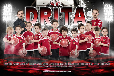Drita Team Poster with Grunge