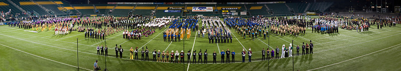 "All Corps in the DCA Championships. Drum Majors: ""Front and Center""  2008 DCA Senior Drum Corps Championships"