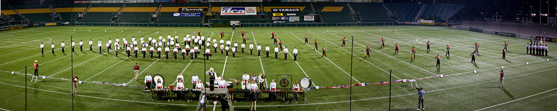 2008 Hawthorne Caballeros starting lineup.  2008 DCA Senior Drum Corps Championships