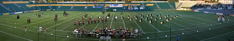 2008 Syracuse Brigadiers starting lineup.  2008 DCA Senior Drum Corps Championships
