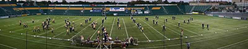 2008 Bushwackers starting lineup.  2008 DCA Senior Drum Corps Championships