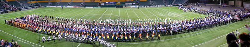 Panorama of DCA Championships Retreat. Empire Statesmen Lead.  2007 DCA Senior Drum Corps Championships