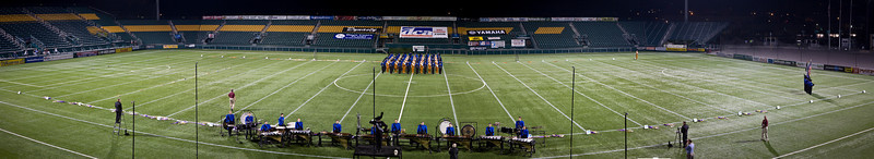 Reading Buccaniers starting lineup.  2008 DCA Senior Drum Corps Championships