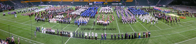 Panorama of DCA Championships 2007 Retreat.  2007 DCA Senior Drum Corps Championships