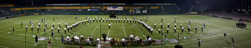 2008 Rochester Empire Statesmen starting lineup.  2007/2008 DCA Senior Drum Corps Championships