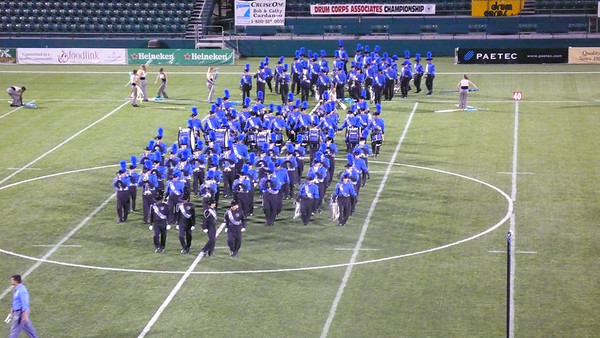 Buccanners enter the field  /2008 DCA Senior Drum Corps Championships