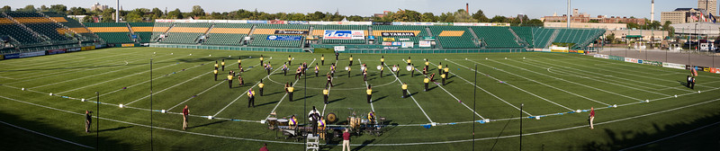 2008 Fusion Core starting lineup.  2008 DCA Senior Drum Corps Championships