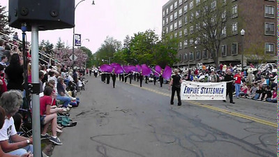 Rochester's Empire Statesmen march in the Lilac festival Parade.  Note: Allow video to fully load after clicking on the above arrow or playback will be choppy.