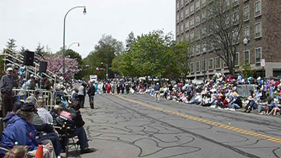 The Hitmen Brass Band.  2007 Rochester Lilac Festival Parade.