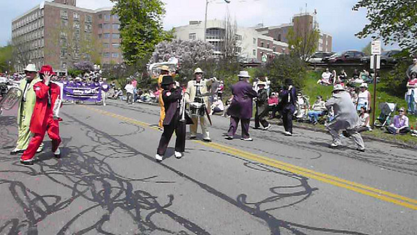 The Hitmen Brass Band, 2009 Rochester Lilac Festival parade.