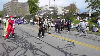 The Hitmen Brass Band, 2009 Rochester Lilac Festival parade.