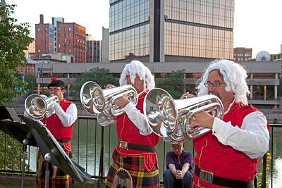 Kilties Brass Baritone Ensemble, playing long hair stuff