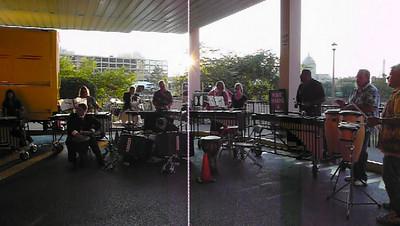 percussion practice before DCA Finals 2009 Ensemble Championship competition
