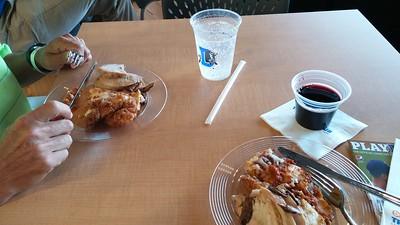Yummy food: fried chicken, marinated tenderloin, lasagna,...