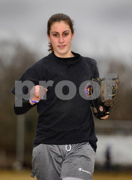 Nicole Morreale, E. Rockaway Softball 2007. Photo by Kathy Leistner