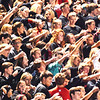 Debbie Blank | The Herald-Tribune<br /> The student section is engaged and synchronized.