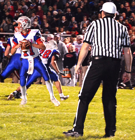 Debbie Blank | The Herald-Tribune<br /> In the end, a last-second 31-yard field goal meant Roncalli will compete at the state level. The Rebels will take on NorthWood for the Class 4A title Nov. 25 at 3:30 p.m. at Lucas Oil Stadium.