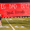 Debbie Blank | The Herald-Tribune<br /> How many encouraging signs did the students end up making for this semistate game?