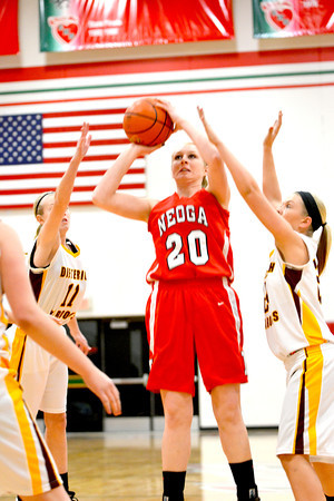 FIRST TEAM<br /> Jillian Deters<br /> Neoga<br /> Senior center<br /> 2013-14 STATISTICS<br /> 16.6 ppg, 7.9 RPG, scored 1,000th career point<br /> AWARDS/HONORS<br /> NTC Most Valuable Player, All-NTC Tournament, All-Monticello Holiday Tournament