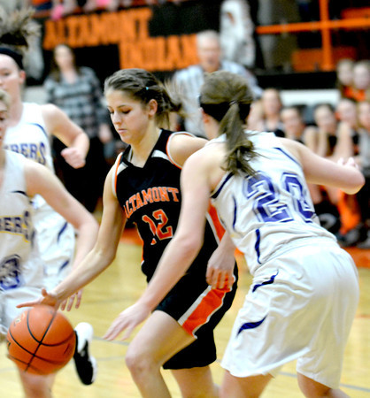SECOND TEAM<br /> Madison Ohnesorge<br /> Altamont<br /> Senior guard<br /> 2013-14 STATISTICS<br /> 16.3 ppg, 2.3 apg, 1.7 spg<br /> AWARDS/HONORS<br /> NTC Tournament MVP, 1st team All-NTC, All-Okaw Valley Tournament
