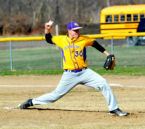 HONORABLE MENTION<br /> Jacob Behrends<br /> Brownstown/St. Elmo<br /> Senior<br /> 2014 Statistics<br /> 7-4, 65 IP, 2.37 ERA, 102 K, .337 BA, 3 HR, 23 RBI