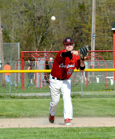 FIRST TEAM<br /> Adam Cox<br /> North Clay<br /> Junior<br /> .411 BA, 39 H, 12 2B, 28 RBI, 5-3, 53.2 IP, 2.69 ERA, 55 K<br /> Awards/Honors<br /> Midland Trail Conference Player of the Year