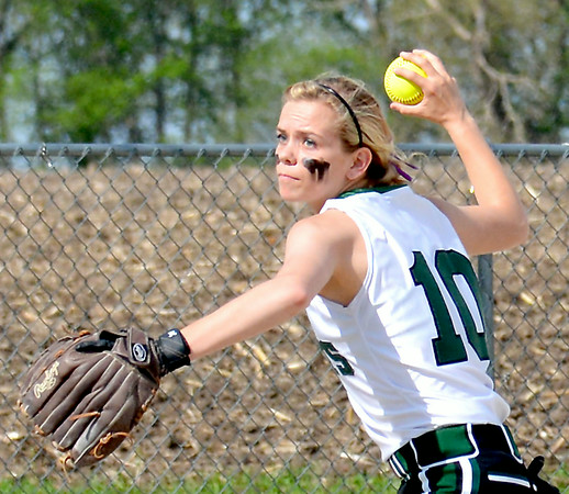 FIRST TEAM<br /> Kendall Knop<br /> Stew-Stras/Windsor<br /> Junior<br /> 2014 Statistics<br /> .470 BA, 40 H, 5 2B, 6 3B, 15 RBI, 14 BB, 42 R, 30 SB, 12-4, 2.40 ERA, 105 IP, 83 K<br /> AWARDS/HONORS<br /> First Team All-NTC, ICA Class 1A Third Team All-State