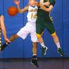 2-28-14   --- EHS vs Tri-C HS Boys Basketball. Rebounding are TriC's Dalton Davis and Eastern's Blake Shrader.-- <br />   KT photo | Tim Bath