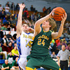 2-28-14   --- EHS vs Tri-C HS Boys Basketball. Eastern's Jacob Kinder shooting in the 3rd quarter with TriC's Dalton Davis attempting a block. He scored 2. -- <br />   KT photo | Tim Bath