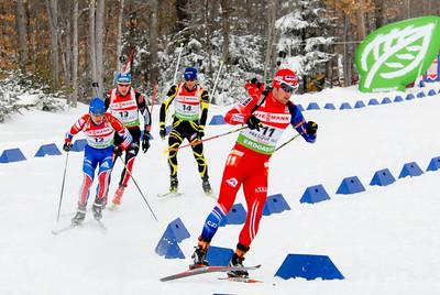 Maxim Tchooudov - 12 (RUS), Andreas Birnbacher - 13 (GER), Vincent Jay - 14 (FRA), Michal Slesingr - 11 (CZE)
