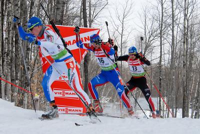 Lukas Hofer - 8 (ITA), Maxim Maksimov - 16 (RUS), Andreas Birnbacher - 13 (GER)