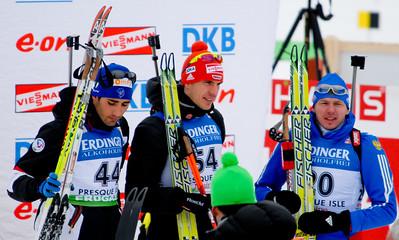 1st - Arnd  Peiffer GER (54); 2nd Martin Fourcade FRA (44); 3rd Ivan Tcherezov RUS (20)