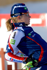 Haley Johnson, USA Warming Up