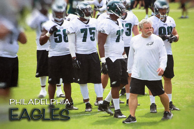 Jerry Azzinaro was named the Eagles defensive line coach/assistant head coach during the 2013 offseason.